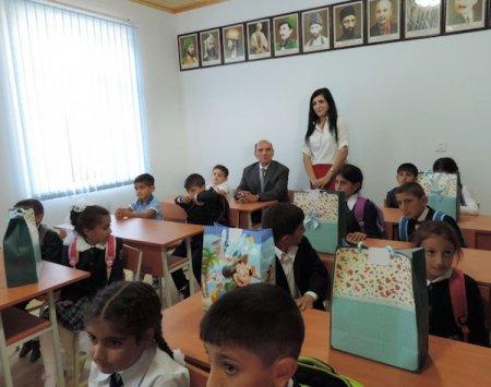 Şamaxının Ərçiman kənd məktəbi üçün tikilən əlavə tədris korpusu istifadəyə verilib